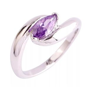 Jewelry - Natural Amethyst Solitaire Ring